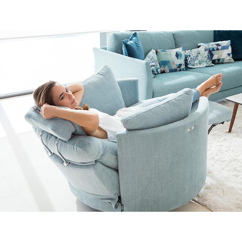 Ανακλυνόμενη περιστρεφόμενη πολυθρόνα MOONRISE reclining swivel rocking armchair