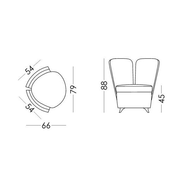 Armchair | GALAN collection - Drawing - Armchair | GALAN collection