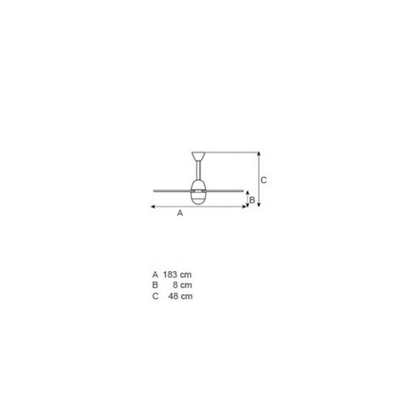 Ανεμιστήρας οροφής διάφανα φτερά | CENTOTTANTA LED - Σχέδιο - Ανεμιστήρας οροφής διάφανα φτερά | CENTOTTANTA LED