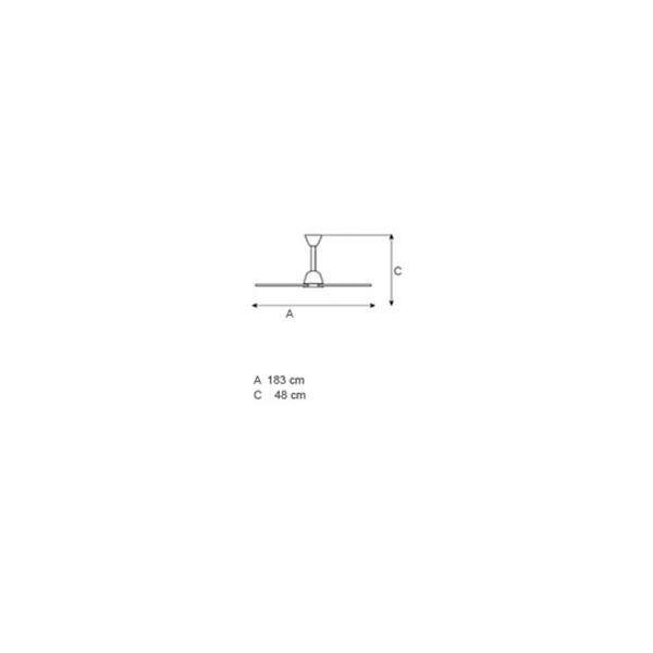 No-light ceiling fan | CENTOTTANTA - Drawing - No-light ceiling fan | CENTOTTANTA