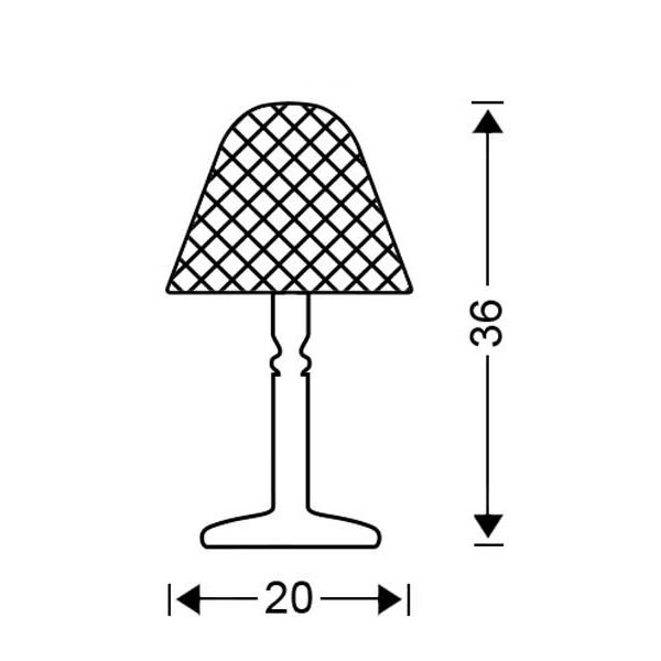 Πορτατίφ με κρύσταλλο Μουράνο | QUADRI - Σχέδιο - Πορτατίφ με κρύσταλλο Μουράνο | QUADRI