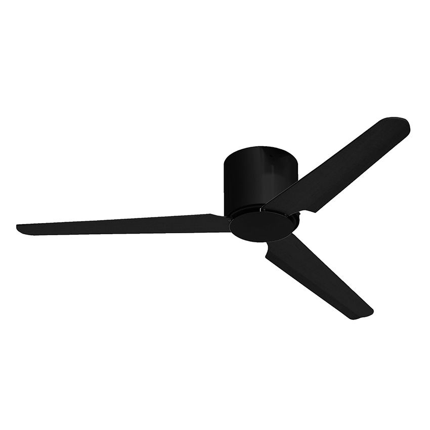 No Light Black Ceiling Fan Flat