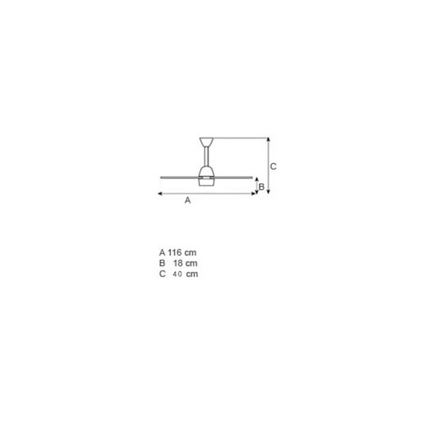 Ανεμιστήρας οροφής χωρίς φως | NOOS - Σχέδιο - Ανεμιστήρας οροφής χωρίς φως | NOOS