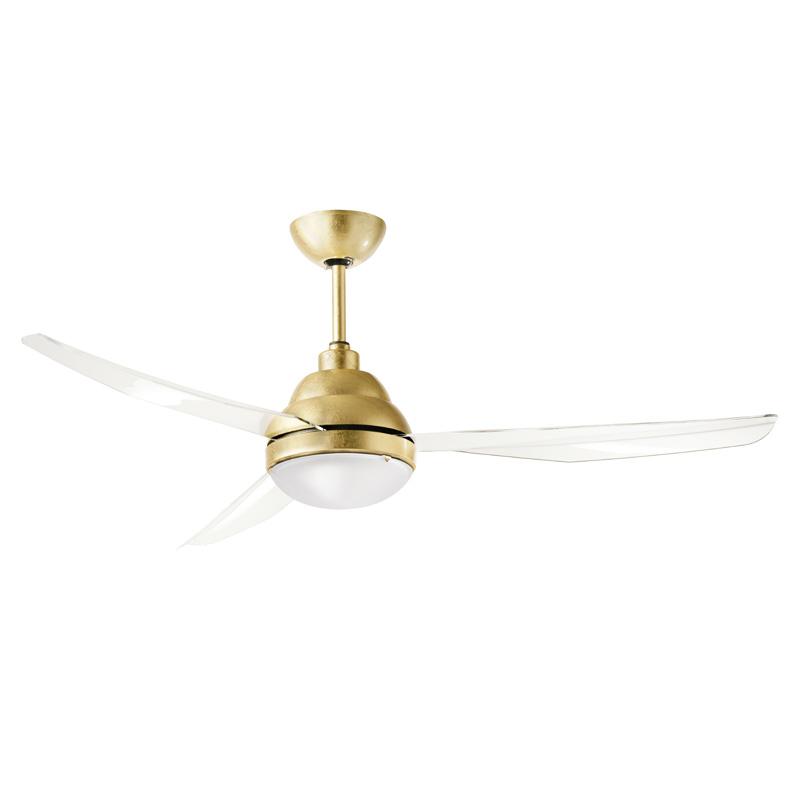 Ανεμιστήρας οροφής με φύλλο χρυσό REMIDA LED ceiling fan with gold lining