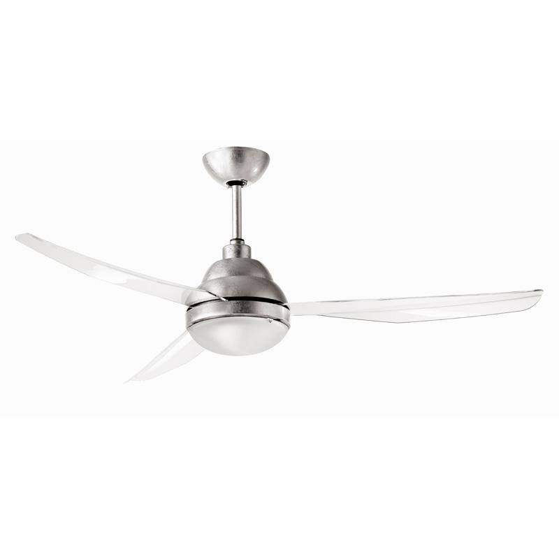 Ανεμιστήρας οροφής με φύλλο ασήμι REMIDA LED ceiling fan with silver lining