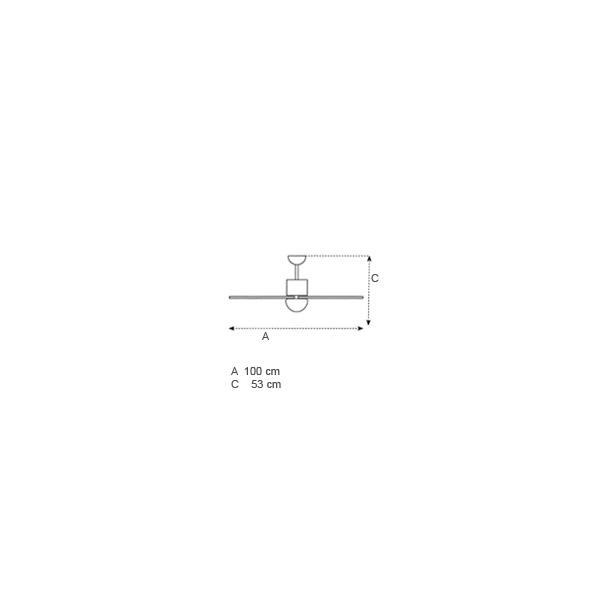 Ανεμιστήρας οροφής χρωματιστός | SOFFIO LED - Σχέδιο - Ανεμιστήρας οροφής χρωματιστός | SOFFIO LED