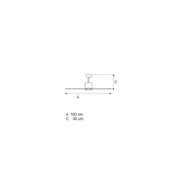 Ανεμιστήρας οροφής χωρίς φως | SOFFIO - Σχέδιο - Ανεμιστήρας οροφής χωρίς φως | SOFFIO