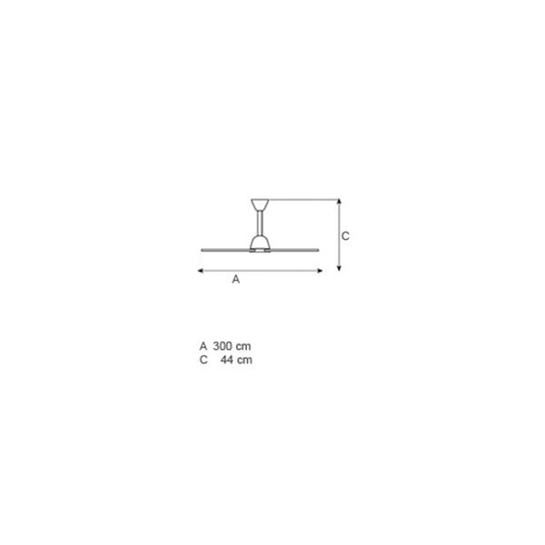 No-light ceiling fan | TREMETRI - Drawing - No-light ceiling fan | TREMETRI