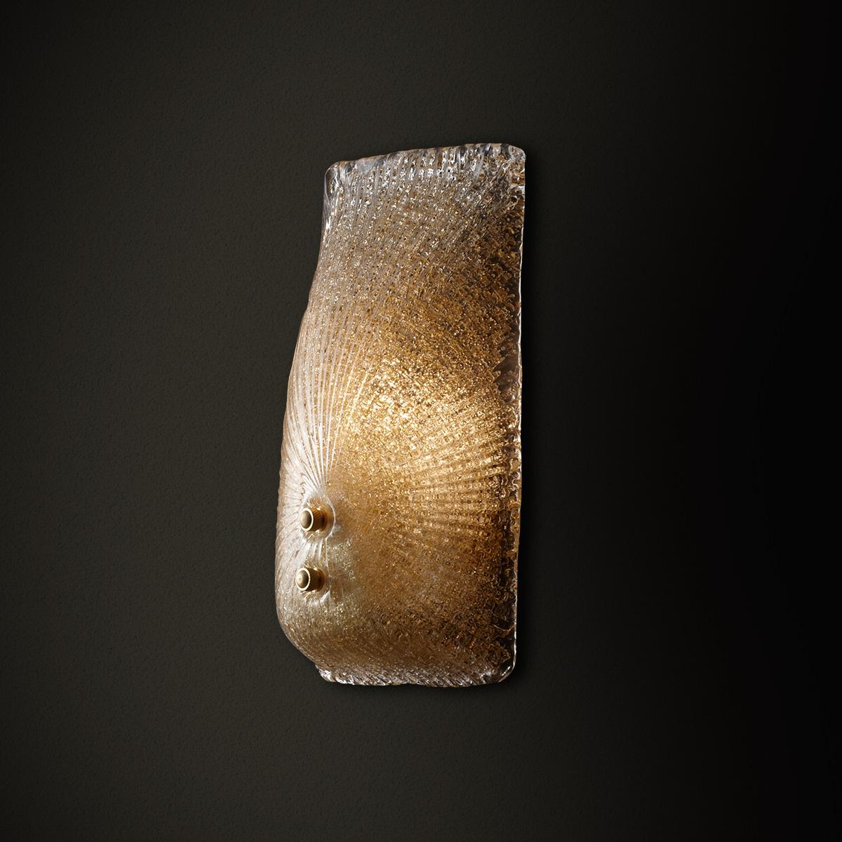 Κλασική μελί απλίκα ΚΟΥΡΟΣ classic amber wall lamp