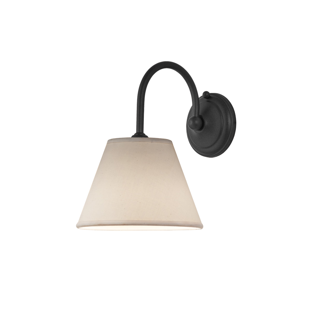 Φωτιστικό τοίχου γραφίτης με καπέλο ΝΑΞΟΣ-2 graphite wall lamp with lamp shade