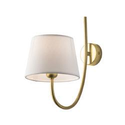 Επιτοίχιο ορειχάλκινο φωτιστικό ΡΟΔΟΣ brushed brass wall lamp