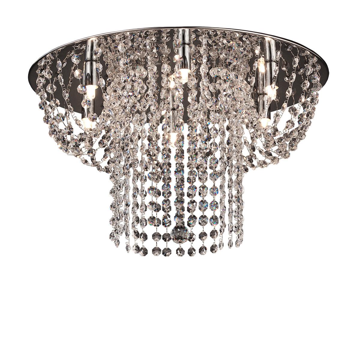 Φωτιστικό οροφής με κρύσταλλα ΕΡΜΗΣ modern ceiling lamp with crystal accents