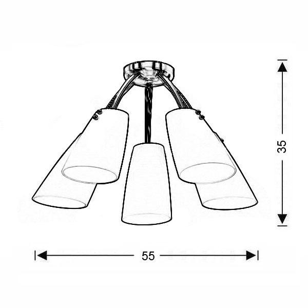 Πολύφωτο οροφής Μουράνο | DONNA - Σχέδιο - Πολύφωτο οροφής Μουράνο | DONNA