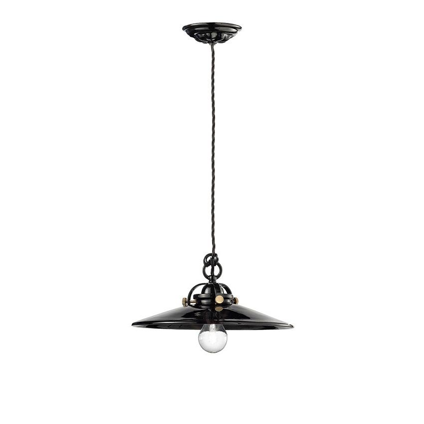 Κεραμικό μονόφωτο B&W ceramic pendant lamp