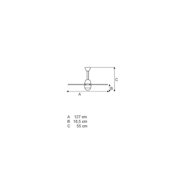 Ανεμιστήρας οροφής λευκός | CHL ECO - Σχέδιο - Ανεμιστήρας οροφής λευκός | CHL ECO