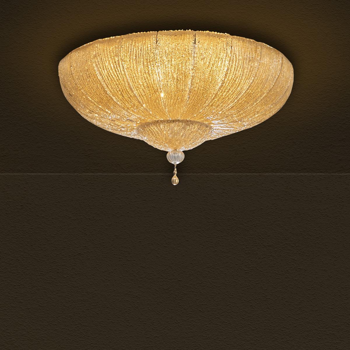 Φωτιστικό οροφής με κρυστάλλινα φύλλα CASTELLO ceiling lamp with crystal leaves