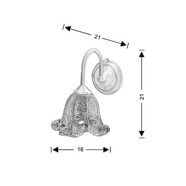 Κλασσικό μπρούτζινο επίτοιχο φωτιστικό | ΝΑΞΟΣ-1 - Σχέδιο - Κλασσικό μπρούτζινο επίτοιχο φωτιστικό | ΝΑΞΟΣ-1