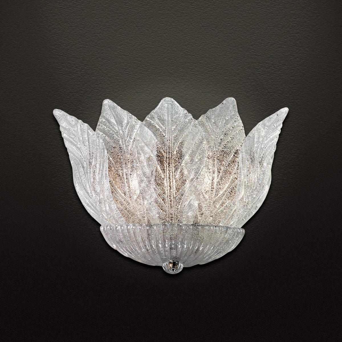 Φωτιστικό τοίχου με κρυστάλλινα φύλλα STELLA wall lamp with Murano crystal leaves