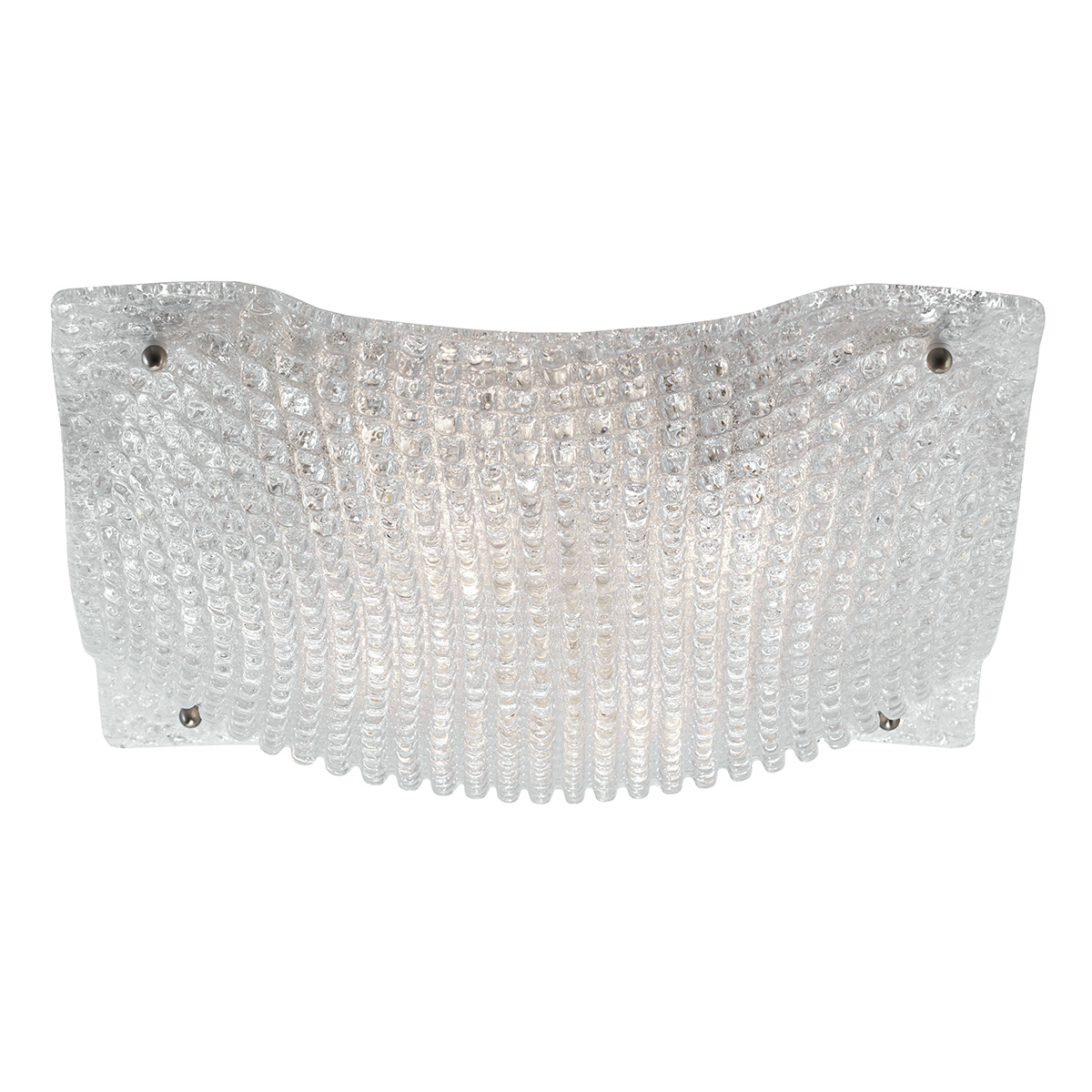 Πλαφονιέρα με λευκό κρύσταλλο Μουράνο ΜΑΝΤΗΛΙ classic white Murano crystal ceiling lamp