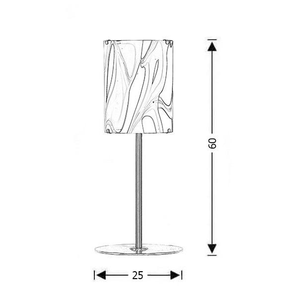 Modern Murano lamp | COLORE - Drawing - Modern Murano lamp | COLORE