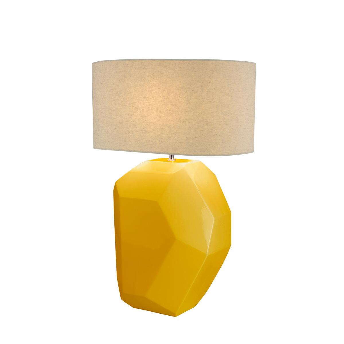 Επιτραπέζια κίτρινη κεραμική λάμπα WHIPPLE yellow ceramic table lamp