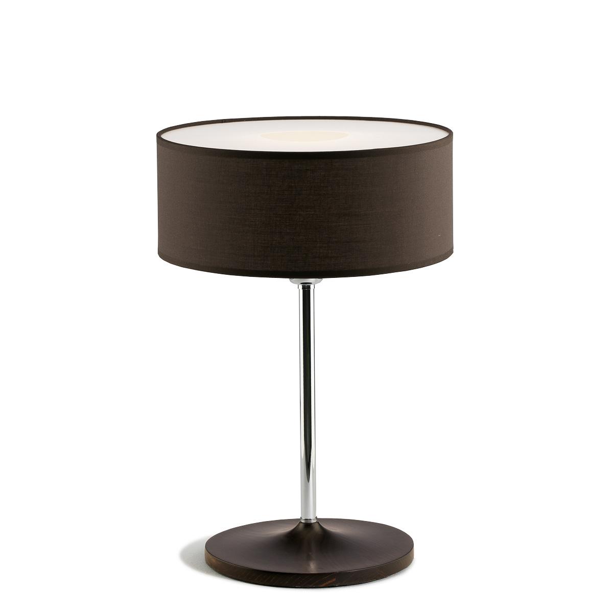Επιτραπέζια λάμπα με ανθρακί καπέλο DISCO ZEN dark grey shade table lamp