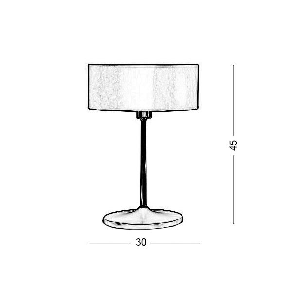 Orange shade table lamp | DISCO ZEN - Drawing - Orange shade table lamp | DISCO ZEN