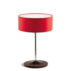Επιτραπέζια λάμπα με κόκκινο καπέλο DISCO ZEN red shade table lamp