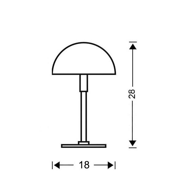 Table lamp | MURRINA collection - Drawing - Table lamp | MURRINA collection