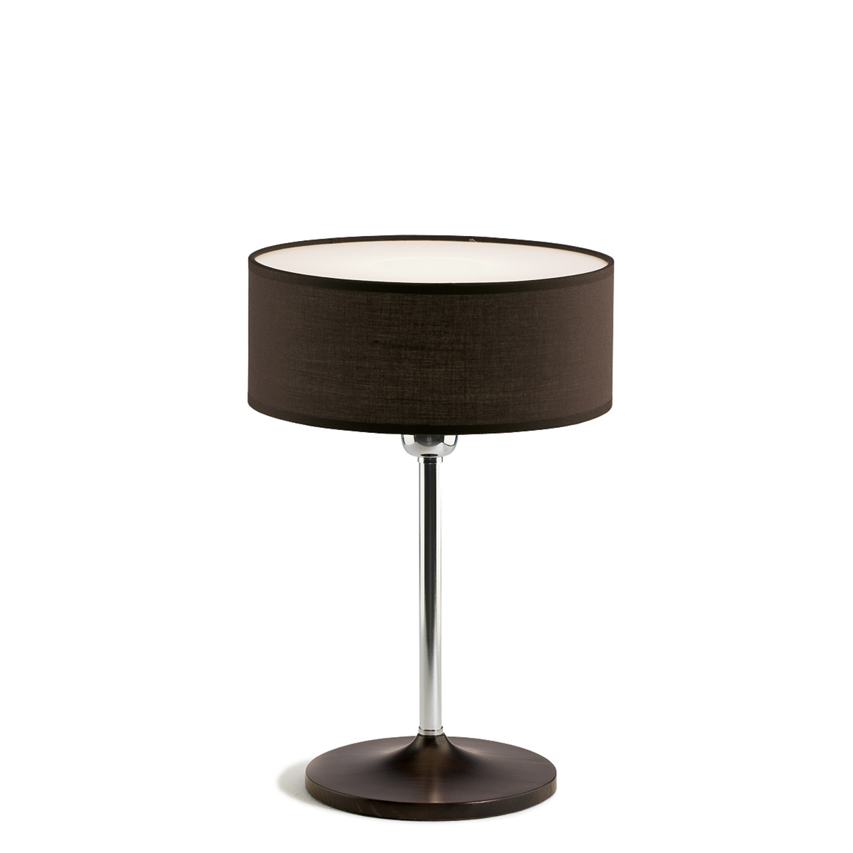 Table Lamp With Dark Grey Shade Disco Zen Mavros Showroom