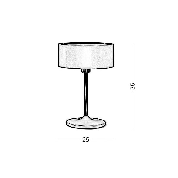 Table lamp with red shade | DISCO ZEN - Drawing - Table lamp with red shade | DISCO ZEN