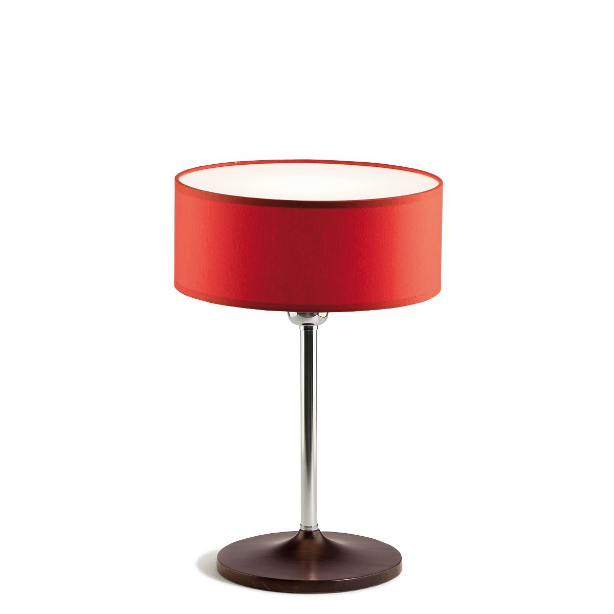 Επιτραπέζιο φωτιστικό με κόκκινο καπέλο DISCO ZEN table lamp with red shade