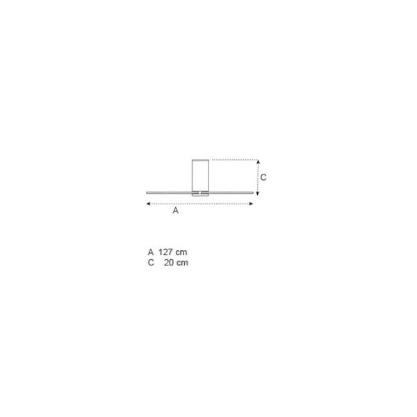 Ανεμιστήρας οροφής λευκός | FLAT LED - Σχέδιο - Ανεμιστήρας οροφής λευκός | FLAT LED