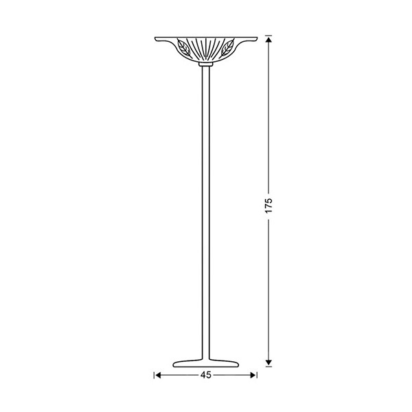 Brass floor lamp | FILLO - Drawing - Brass floor lamp | FILLO