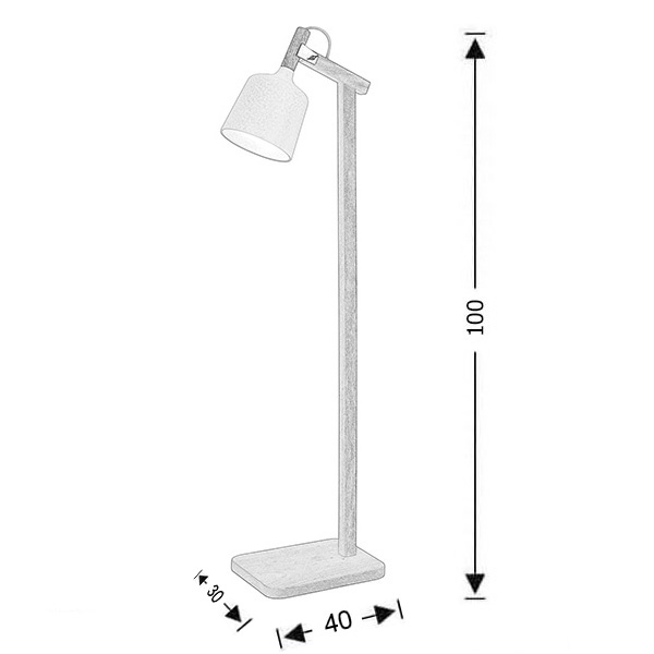 Modern floor lamp | DUO collection - Drawing - Modern floor lamp | DUO collection
