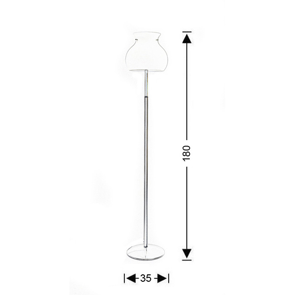 Murano floor lamp | GLOBO collection - Drawing - Murano floor lamp | GLOBO collection