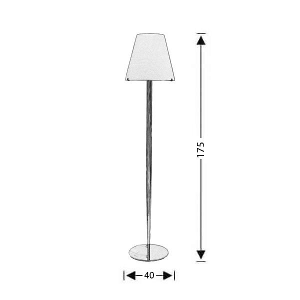 Modern Murano floor lamp | CONES - Drawing - Modern Murano floor lamp | CONES