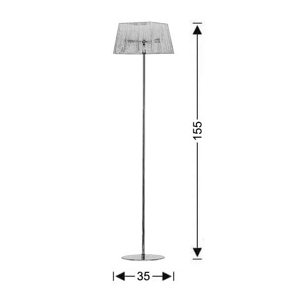Modern floor lamp | ORGANZA - Drawing - Modern floor lamp | ORGANZA