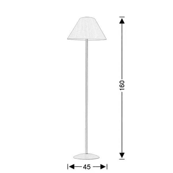 Rustic floor lamp with shade | NAXOS-2 - Drawing - Rustic floor lamp with shade | NAXOS-2