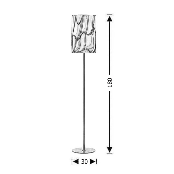 Modern Murano floor lamp | COLORE - Drawing - Modern Murano floor lamp | COLORE