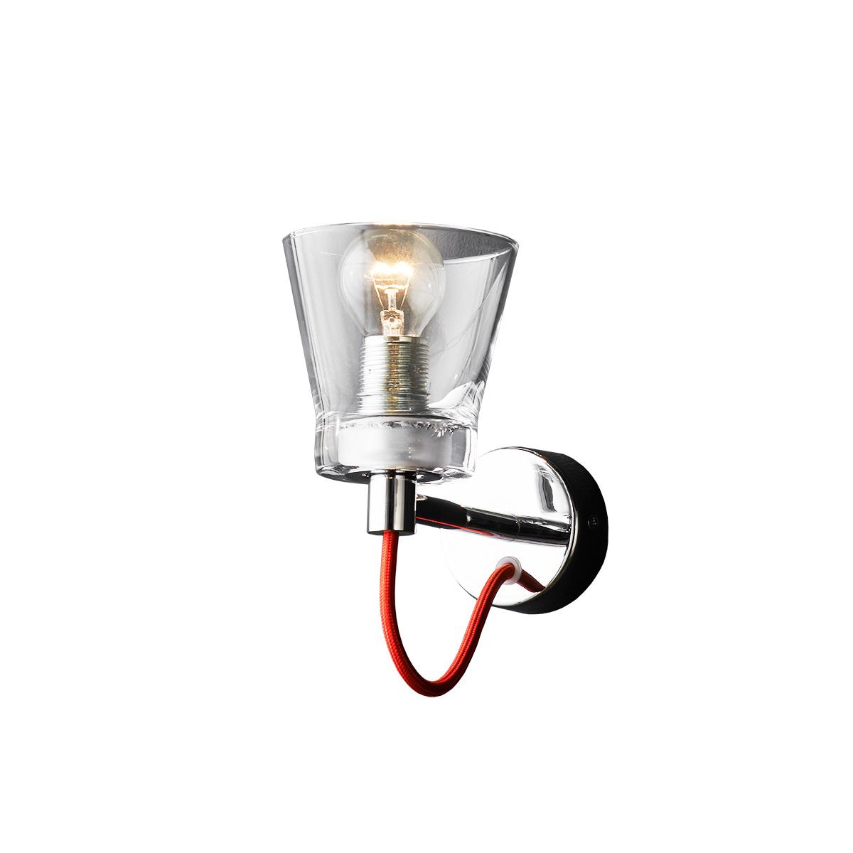 Φωτιστικό τοίχου με κοντό ποτήρι ΟΥΙΣΚΙ wall lamp with short glass