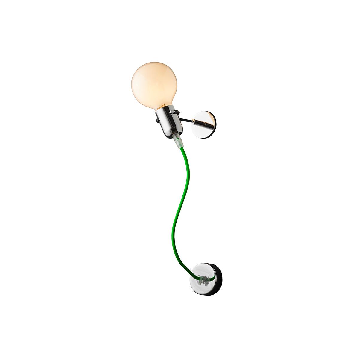 Μοντέρνα απλίκα με πράσινο καλώδιο ΚΑΛΩΔΙΑ modern green wall lamp
