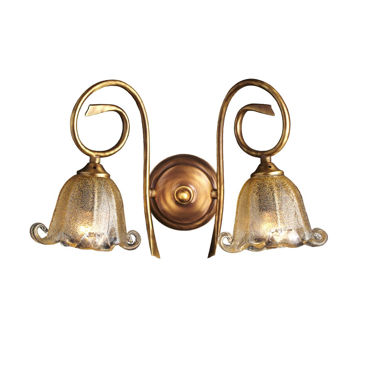 Κλασική 2φωτη απλίκα ΒΙΚΟΣ classic 2-bulb wall lamp