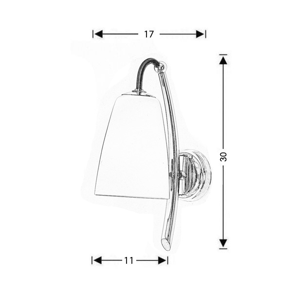 Modern wall lamp | SWING - Drawing - Modern wall lamp | SWING