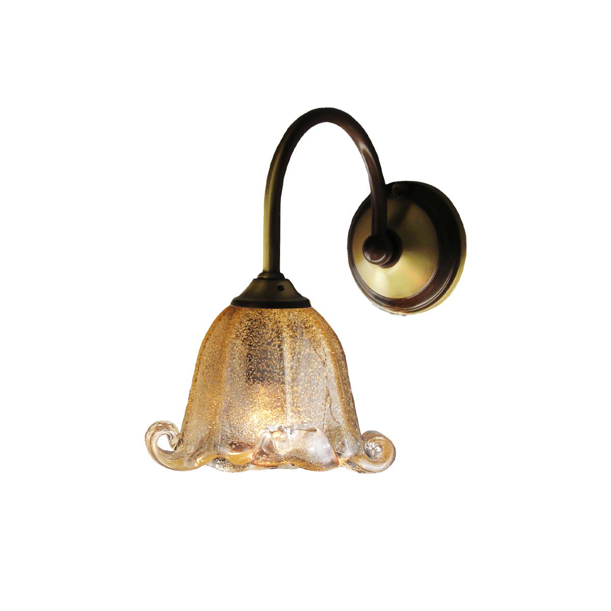 Κλασσικό μπρούτζινο επίτοιχο φωτιστικό ΝΑΞΟΣ-1 classic antique brass sconce