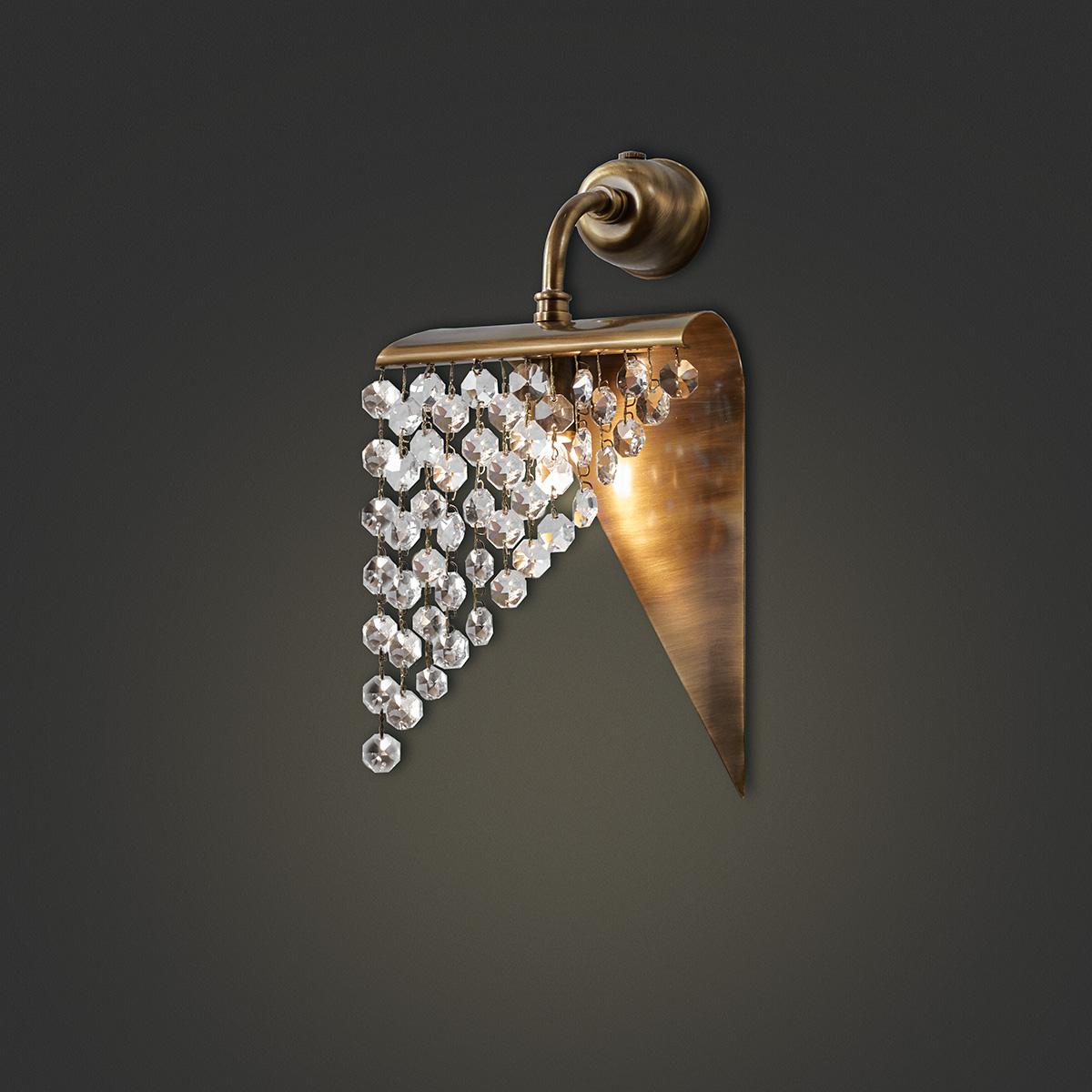 Επιτοίχιο φωτιστικό με κρύσταλλα ΕΡΜΗΣ wall lamp with crystal accents