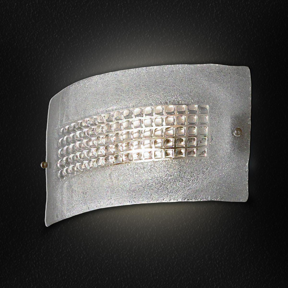 Επιτοίχιο φωτιστικό SQUARE murano wall lamp