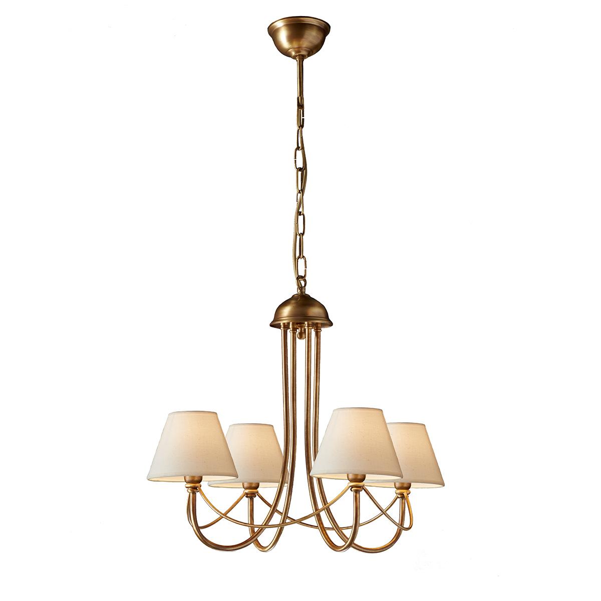 Κλασικό 4φωτο πολύφωτο με καπέλα ΓΥΘΕΙΟ classic 4-bulb chandelier with shades