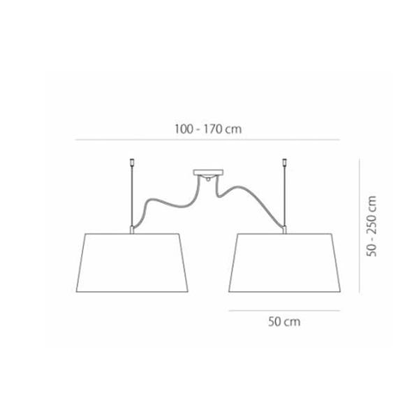 Δίφωτο φωτιστικό | TURN RUSTICO - Σχέδιο - Δίφωτο φωτιστικό | TURN RUSTICO