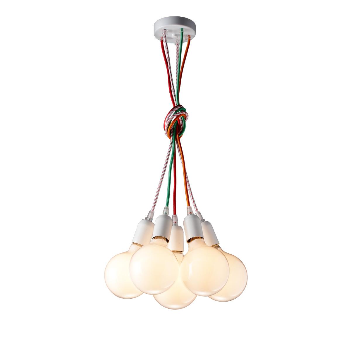 Φωτιστικό με πολύχρωμα καλώδια ΚΑΛΩΔΙΑ pendant lamp with colorful cables